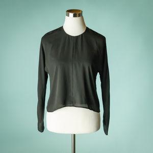 Babaton Aritzia XS Black Long Sleeve Top